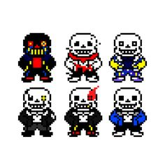 greatergaster: Just some sans AU sprites I made