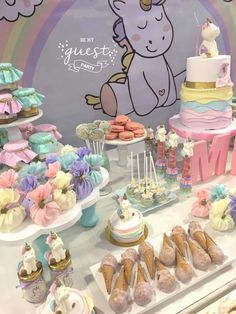 Be My Guest Party's Birthday / Unicorns - Photo Gallery at Catch My Party First Birthday Parties, First Birthdays, Girl Birthday Decorations, Birthday Ideas, Unicorn Themed Birthday, Horse Party, Baby Party, Party Ideas, Mishka