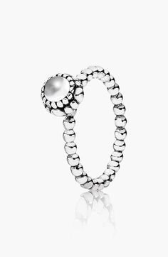 I want this so bad! perfect b-day gift!! I might just get it for myself! lol PANDORA 'Birthday Blooms' Ring available at #Nordstrom