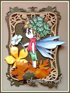 Sementes de Papel, Sureya, Spellbinders labels eight, Autumn ATC