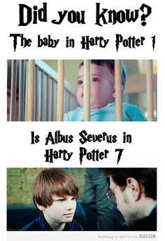 "Potter fans may be familiar with this image, which first appeared online in early 2012. | No, Baby Harry Potter From The First Film Didn't Play Albus Severus Potter In ""The Deathly Hallows: Part 2"" *-* non lo sapevo ♡"