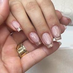 Romantic Nails, Elegant Nails, Classy Nails, Simple Nails, Nail Art Designs Videos, Nail Art Videos, Nail Designs, Chic Nails, Stylish Nails