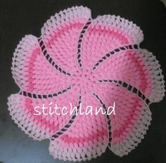 StitchLand: Cuma'nın / Project of – Knitting patterns, knitting designs, knitting for beginners. Crochet Potholders, Crochet Motifs, Crochet Chart, Crochet Doilies, Crochet Flowers, Crochet Stitches, Crochet Designs, Knitting Designs, Knitting Patterns