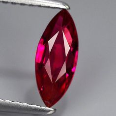 CERTIFIED UNHEATED Natural Gem 0.99ct 9.5x4mm Marquise Red RUBY, MOZAMBIQUE