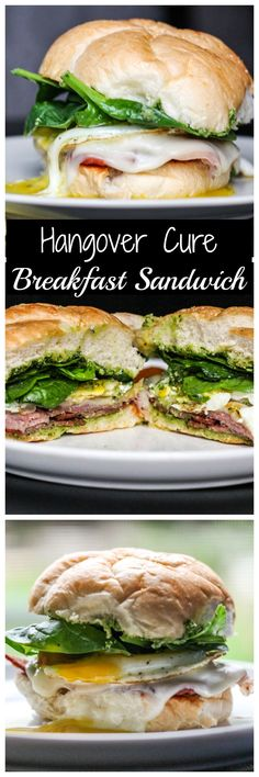 The ultimate breakfast sandwich packed with bacon, prosciutto, egg & cheese. The ultimate breakfast sandwich packed with bacon, prosciutto, egg & cheese. Breakfast Items, Breakfast Dishes, Best Breakfast, Breakfast Recipes, Hangover Breakfast, Detox Breakfast, Bacon Breakfast, Easy Sandwich Recipes, Brunch Recipes