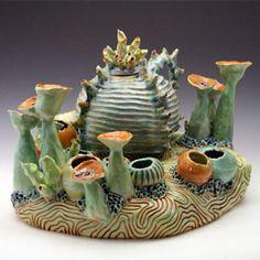Ceramic Underwater Garden Teapot