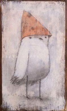Red Cap by SethFitts on DeviantArt Vintage Botanical Prints, Collage Art Mixed Media, Surrealism Painting, Lowbrow Art, Whimsical Art, Bird Art, Cat Art, Art Tutorials, Pet Birds