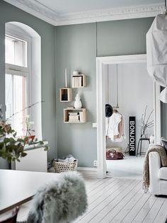 Grey interior paint ideas grey bedroom paint blue and grey room grey Living Room Red, Living Room Decor, Living Room Interior, Living Room Colors, Grey Interior Paint, Interior Design, Interior Wall Colors, Interior Painting, Grey Hallway