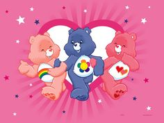 care bears clipart images | Three Care bears Image for Fb Share | Graphics99.com