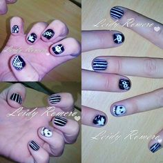Nails art halloween jack