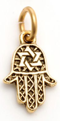 Girl Intuitive - Hamsa Charm - Silver or Gold Hamsa means --> Purity, Protection, Power.