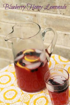 Blueberry Honey Lemonade - There is nothing like a glass of refreshing lemonade. This homemade lemonade recipe uses smooth sweet honey and infuses the flavor of blueberries for a deliciously refreshing drink. http://www.realthekitchenandbeyond.com/blueberry-honey-lemonade/