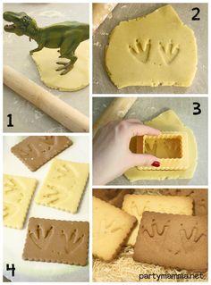 Tutorial per creare biscotti GIURASSICI! (Easy tutorial to create JURASSIC COOKIES)