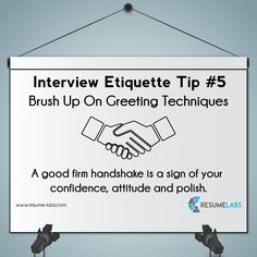 Build Immediate Trust with the Right Handshake  #InterviewTips #LinkedInProfile #Personalbranding #ProfessionalResume     http://www.resume-labs.com/linkedin_profiling/company