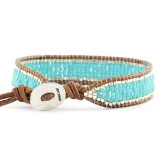 Chan Luu - Turquoise Green Single Wrap Bracelet on Natural Brown Leather, $140.00 (http://www.chanluu.com/turquoise-green-single-wrap-bracelet-on-natural-brown-leather/)