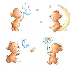 Teddy Bears  #nurseryart #nurseryprint #nurserydecor #nurserypictures #nurseryillustration #teddybear  #annaabramskaya #etsyshop #teddydrawings #teddybearlove