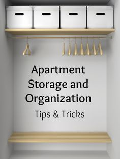 When you live in an apartment, you have to make the most of every square inch of space you have, especially closet and storage areas. Watch this video to get some tips and pointers on how to organize your space, even if there's not much of it.