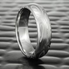 Groom's Ring Damascus Steel Wedding Band by Steven Jacob. Alternative Unique…