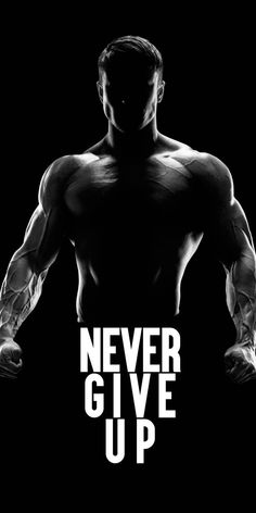 Never Give up. Workout Quotes For Men, Workout Routine For Men, Motivational Quotes For Working Out, Gym Workout Chart, Gym Workout Tips, Fun Workouts, Workout Fitness, Fitness Motivation Wallpaper, Fitness Motivation Quotes