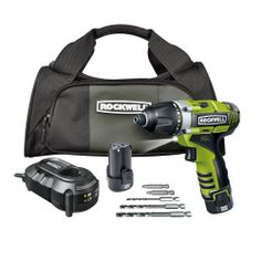 RK2515K2 Rockwell Lithium Tech 3RILL 12V 3-in-1 Impact Driver