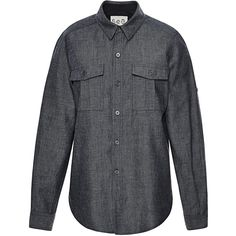 Sea Japanese Denim Button Up Shirt ($255) ❤ liked on Polyvore featuring tops, sea, new york, long sleeve shirts, long sleeve denim shirt, long sleeve button down shirts and long sleeve tops