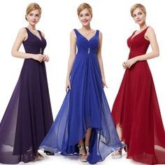 Ever Pretty Women s Long V-neck Bridesmaid  Evening Party Gown Prom Dress 09983
