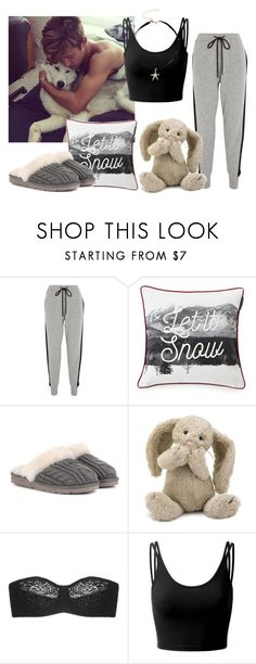 """""""Lazy day w/ Cameron Dallas"""" by hola-hi ❤ liked on Polyvore featuring Markus Lupfer, Lexington, UGG, Jellycat, Wacoal, Doublju, LazyDay, CameronDallas and magcon"""