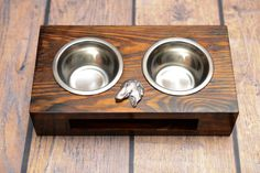 A dog's bowls with a relief from ARTDOG collection - Dachshund Cairn Terrier, Pitbull Terrier, Yorkshire Terrier, Border Terrier, Fox Terrier, Boston Terrier, Norfolk Terrier, Norwich Terrier, Dachshund