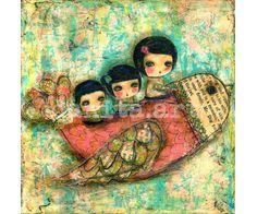 Flying+Among+Dandelions++Print+from+Original+Mixed+by+DanitaArt,+$15.00