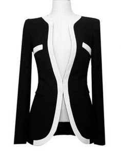 New Arrival Long Sleeve Black Blazer for Work$13.67