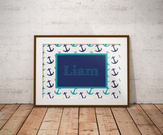 Made by molls is based out of nashville tn one of the most kind personalized baby name sign printable nautical anchors digital gift teal navy blue little boy modern bedroom nursery decor name beach ocean negle Choice Image