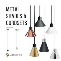 This style of lighting is so versatile, provides great downlight illumination and looks great in a range of applications. From kitchen islands to bedside lighting - make it your own!   We have a wide range of  metal shades in a variation of colour, size and finishes!. Create your own combination of shade and cordset to suit your home style and decor.  #homereno #revamp #deocrating #lockdowntodolist #rennovation #homerenno #homerennovation #style #lightingstyle #mixandmatch #lighting… Bedside Lighting, Fashion Lighting, Kitchen Islands, Home Reno, Downlights, Mix N Match, Light Decorations, Pendant Lighting, Decorative Lighting