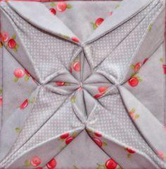 Bloque 24: Tela origami - sampler quilt textura | cosido por TeresaDownUnder