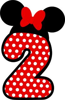 Number two ♥ Minnie Mouse Mickey Party, Mickey Mouse Birthday, Minnie Mouse Party, Mouse Parties, Minnie Mouse Candy Bar, Minnie Png, Birthday Numbers, Mickey And Friends, Letters And Numbers