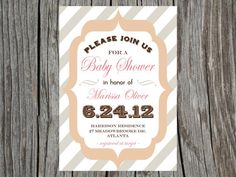 Printable Baby Shower Invitation Vintage by PrintYourHeartOut, $12.50