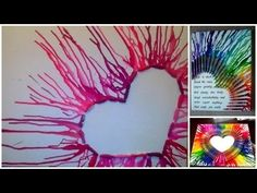 DIY Geschmolzenes Herz mit Spruch auf Leinwand                                                                                                                                                                                 Mehr