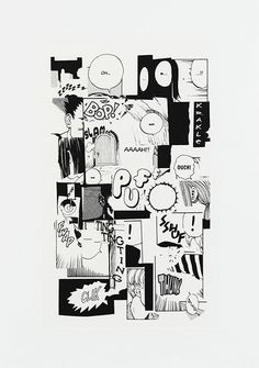 Christian Marclay, 'Puff Ouch!' Photogravure on chine colle, 2011.