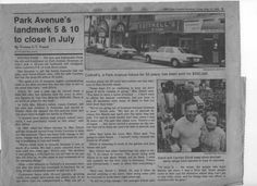 A sad time . . . newspaper article announcing closing of Cottrell's 5 & 10 in July of 1985.  Owners Dave & Carmen Elliott pictured, with front shot of store on Park Avenue, Winter Park, Florida. #vintagewinterpark #iluvwinterpark #centralflorida
