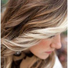 blonde streaked hair