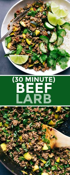 Easy, Beef Larb is made in one skillet. While not authentic, Beef Larb is easy to make and has all the great flavors you know and love from Thai food. Thai Beef Larb Recipe, Filipino Recipes, Thai Recipes, Cooking Recipes, Sticky Rice Recipes, Beef Lettuce Wraps, Meat Salad, Ground Beef Recipes Easy, Food Recipes