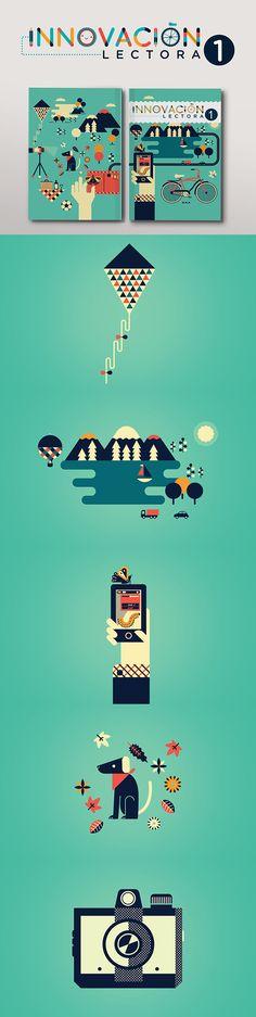 Ilustraciones de portada para la colección Innovación Lectora Secundaria de Editorial Pearson.