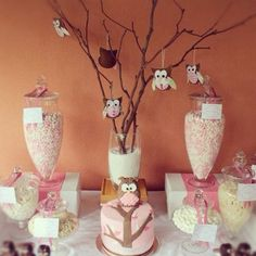 Owl theme centerpiece