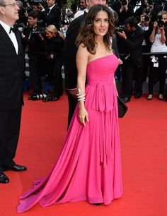 The Cannes Film Festival 2014 | Salma Hayek | ELLE UK --- this is a really cute dress