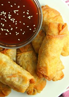 Homemade Egg Rolls Sauce For Eggs, Egg Roll Ingredients, Eggplant Rolls, Homemade Egg Rolls, Egg Roll Recipes, Ground Sausage, Duck Sauce, Coleslaw Mix, Rolls Recipe