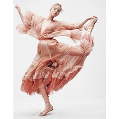 Fantasies of a Ballerina Sasha Luss for Vogue Japan December 2016 ❤ liked on Polyvore featuring dancers