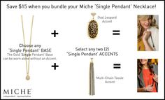 Miche single pendant necklace.  Order at http://sandrasgotmy.miche.com