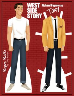 tony (west side story) | paper dolls by cory