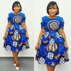 Short Ankara Dresses for Weddings. Ladies, here are essential ankara short gowns you'll love and will wow people around you. African Dresses For Women, African Print Dresses, African Attire, African Fashion Dresses, African Wear, African Women, African Prints, Ankara Short Gown Styles, Trendy Ankara Styles