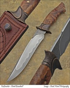 Broadwell's fighters and bowies exhibit excellent balance as well as exceptional fit and finish. Click or mouse over image for details. Dagger and Sword Gallery                               …