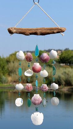 Driftwood Seashell Wind Chimes Sea Shell by seashorewindchimes